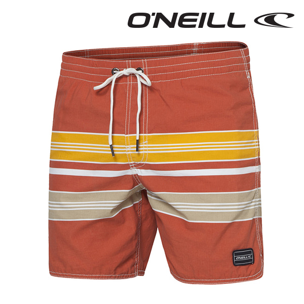 오닐 남성 보드숏 503228 CHAMBERS BOARDSHORT - RED/W YELLOW